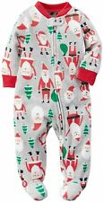 Carter's Infant Boy's Fleece Footed Holiday Santa Sleeper NWT   3M 6M 12M or 24M