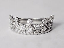 Sovats New Fashion Women Princess Queen Crown Designed Ring Silver Size 5-12