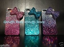 3D ribbon fits iphone bling crystals case diamond cover hello kitty bow USA