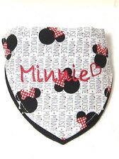 Dog (Cat) MINNIE MOUSE Bandana w/Collar, Personalized Pet's Name & ID, XS - MED