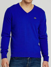 Lacoste Men's 100% Cotton Ribbed V-Neck Sweaters Various Colors XXL (FR:7) NWT