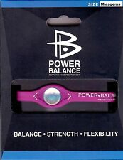 POWER BALANCE NEGATIVE ION ENERGY HEALTH BRACELET - FUSCHIA PINK / WHITE LETTERS
