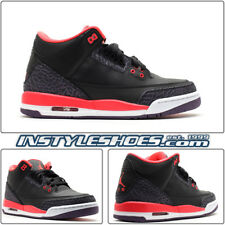 NIKE AIR JORDAN 3 III GS RETRO BLACK CRIMSON CEMENT 398614-005 4 4.5 5 5.5 6