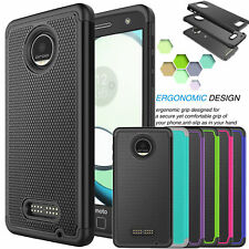 Shockproof PC Rubber Hard Case Cover For Motorola Moto Z Play/Moto Z Play Droid