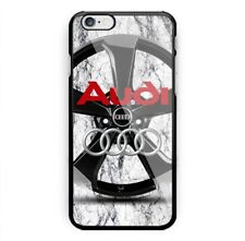 Audi Automotive Logo White Marble For iPhone 6 6+ 6s 6s+ 7 7+ 8 8+ Cover Case