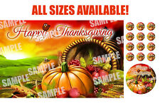 HAPPY THANKSGIVING Edible Cake Image Frosting Sheet Topper!