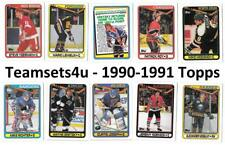 1990-91 Topps Hockey Set ** Pick Your Team ** See checklist