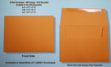 A2▪A6▪A7 60# Premium Orange Announcement Envelopes - Various Quantities
