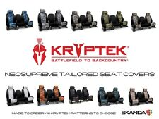 Coverking Kryptek Camo Neosupreme Seat Covers with Black Sides for Hummer H2