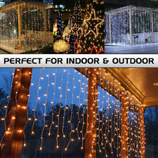 9.8FT LED String Fairy Light Window Curtain Lights Christmas Wedding Decoration