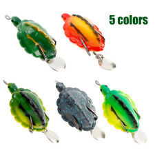 Fishing Lure Soft Turtle 5 Colors Bass Pike Muskie Snakehead Fishing Bait NEW