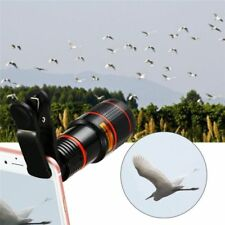 8X 12X Zoom Phone Camera Telephoto Telescope Lens +Clip For Mobile Cell Phone Ca