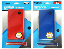 Red + Blue Aluminum Armor Protective Shells Cases Covers fits Nintendo DSi