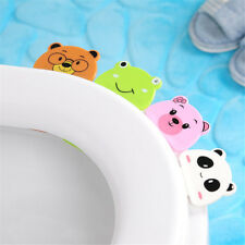 Durable Lovely Cartoon Animal Toilet Seat Pad Cover Lifter Toilet Lid Lift Tool