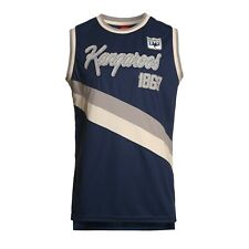 North Melbourne Kangaroos AFL Football Mens Polyester Singlet