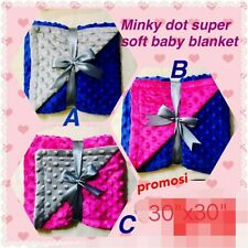 Personalized Minky Dot Super Soft Baby Blanket