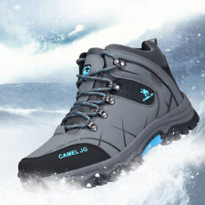Mens Winter Big Size Trail Hiking Boots Antiskid Waterproof Camel Outdoor Shoes