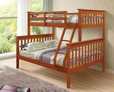 TWIN OVER FULL PINE BUNK BED - ESPRESSO