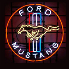 Sign Neon FORD MUSTANG Light American Vintage Bar Garage