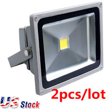 US Stock-2pcs/pack 20Watt 30Watt 12-24VDC LED Flood Light(Warm Natural White)