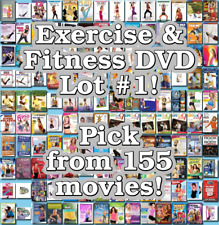 Exercise & Fitness DVD Lot #1: 155 Movies to Pick From! Buy Multiple And Save!
