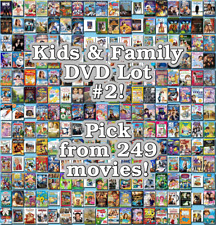 Kids & Family DVD Lot #2: 249 Movies to Pick From! Buy Multiple And Save!