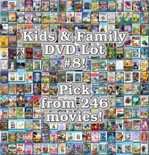 Kids & Family DVD Lot #8: 246 Movies to Pick From! Buy Multiple And Save!