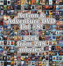 Action & Adventure DVD Lot #8: 248 Movies to Pick From! Buy Multiple And Save!