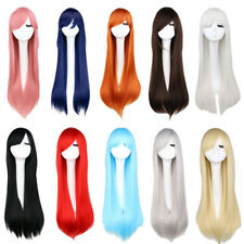 "80cm/32"" Fashion Womens Wig Long Straight Anime Cosplay Party Wig  Multicolor"