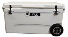 70 Quart Tailgate Series Cooler Box with Wheels White Ice Chest And Accessories