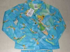 Disney Fairies Flannel Sleepwear Pajama Sets Blue For Girls SZ 4/6 - NWT $32