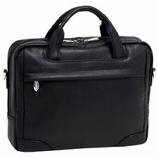 "McKlein USA S series BRIDGEPORT Leather Large 17"" Laptop Briefcase"