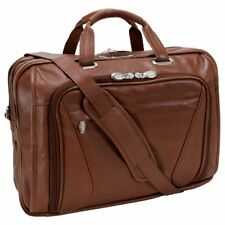 McKlein USA S series IRVING PARK Leather Double Compartment Laptop Case