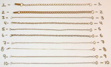 """VINTAGE 7"""" Yellow Gold Chain Tennis Bracelets Filled Plated 1O DIFFERENT LINKS"""