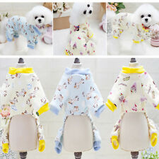 Warm Dog Jumpsuit Pet Coat Pajamas Chihuahua Teacup Yorkie Maltese Clothes New