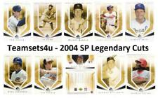 2004 SP Legendary Cuts Baseball Set ** Pick Your Team **