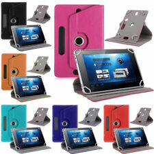 """Leather Folio Android Tablet 360°Rotating Case Cover For Universal PC 7"""" 8"""" 9"""" 9"""