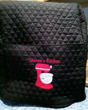 Quilted personalized embroidered Kitchenaid mixer cover fits 4.5-5-6-5Pro-7-8qrt