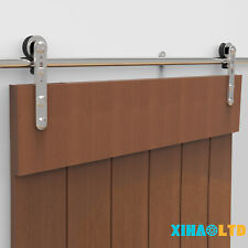 Stainless Steel Sliding Barn Door Hardware Closet System Kit For Wood/Glass Door