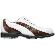Footjoy FJ Icon Spikeless Mens Golf Shoes 52283 NEW Wh/Brn 10Med $299 Ret NICE!