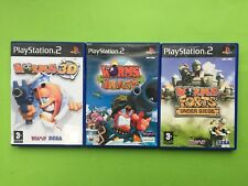 Worms 3D, Blast, Forts Under Siege Playstation 2 PS2 PAL Games Selection List