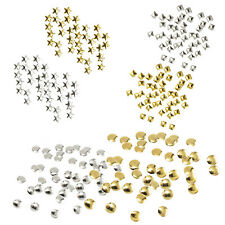 500pcs 3D Nail Art Decoration Stickers Studs (3MM squares studs, Silver) W5V3