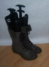 NEW Clarks distressed brown leather military mid-calf boots - various sizes