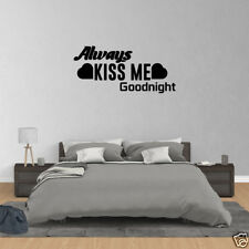 Wall Decal Quote Always Kiss Me Goodnight Wall Decals Vinyl Wall Decor JP210