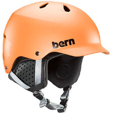 Bern Watts Mens Helmet Ski - Matte Orange ~ Black Liner All Sizes
