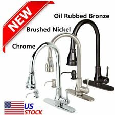 "18""/16"" Kitchen/Bathroom Sink Faucet Pull-Out Spray Swivel Spout Dispenser US VP"