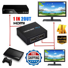 1080P HDMI to 2 Female 1 In 2 TV Out 3D Splitter Amplifier Repeater Switcher Box