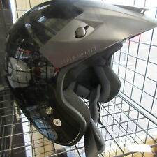 Fulmer Open Face Helmet ATV, Motorcycle Dot Approved Glossy Black Small or XS