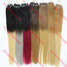 Easy Loop Micro Rings silicone Beads Ombre Hair Remy Human Hair Extensions 100s