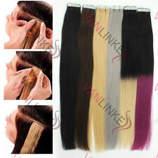 20PCS Tape in Skin Ombre Human Hair Extension Remy Tape Hair Extensions 16-24""